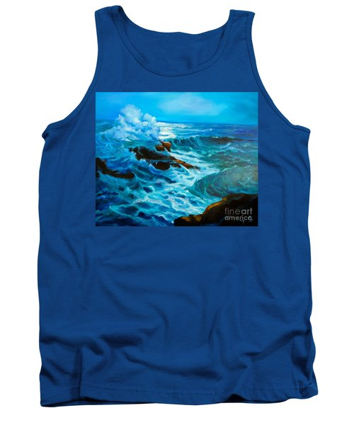 Tank Top featuring the painting Ocean Deep by Jenny Lee