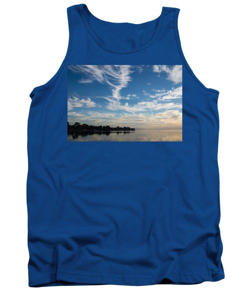 Of Feathery Clouds And Tranquil Mornings Tank Top