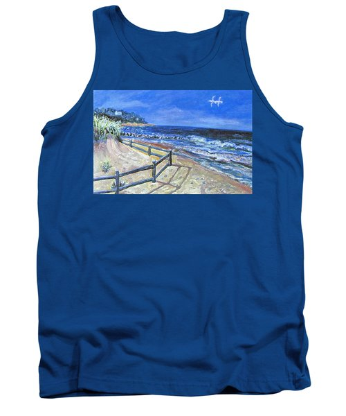 Tank Top featuring the painting Old Silver Beach by Rita Brown