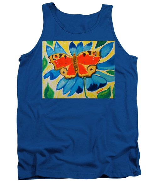 Tank Top featuring the painting On Top Of My World by Meryl Goudey