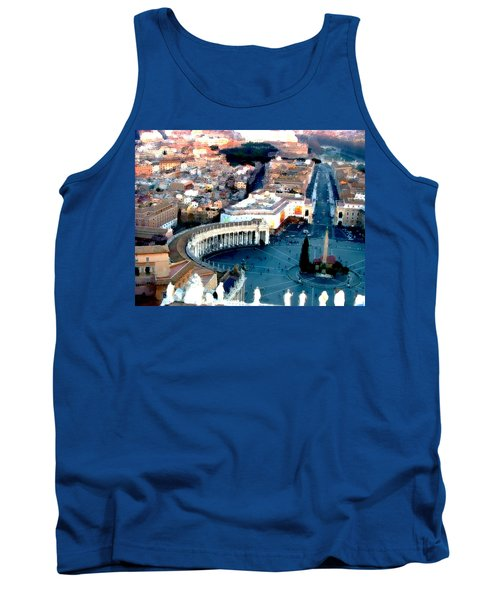 Tank Top featuring the digital art On Top Of Vatican 1 by Brian Reaves