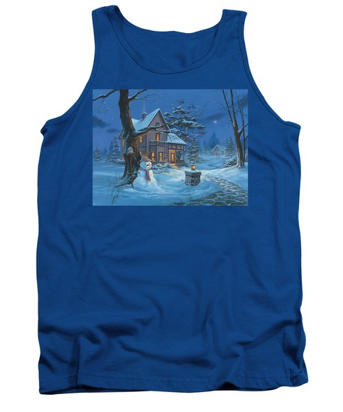 Once Upon A Winter's Night Tank Top by Michael Humphries