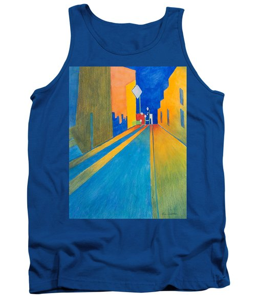 Orange France At Night Tank Top by Lee Beuther