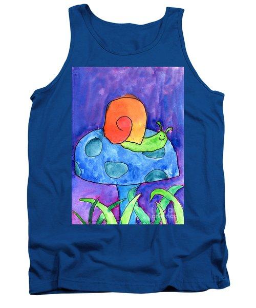 Orange Snail Tank Top