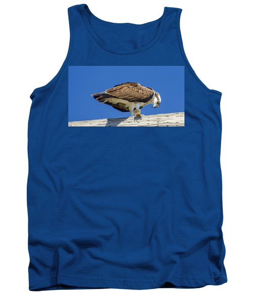Tank Top featuring the photograph Osprey Eating Lunch by Dale Powell