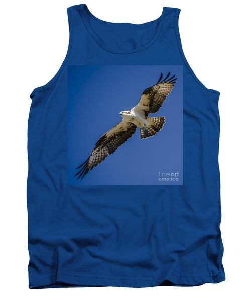 Tank Top featuring the photograph Osprey In Flight by Dale Powell