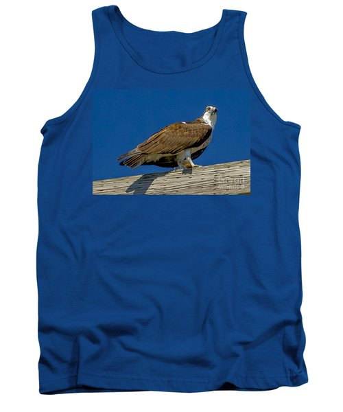 Tank Top featuring the photograph Osprey With Fish In Talons by Dale Powell