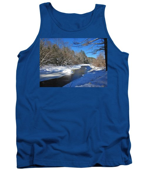 Otter Brook In Winter Tank Top