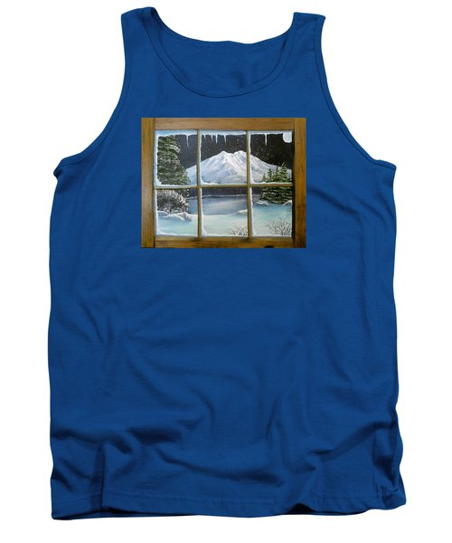 Out My Window-bright Winter's Night Tank Top by Sheri Keith