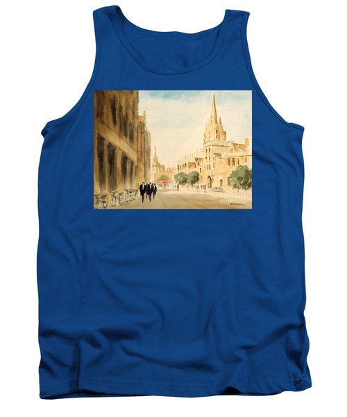 Tank Top featuring the painting Oxford High Street by Bill Holkham