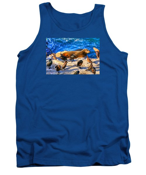 Tank Top featuring the photograph Pacific Harbor Seal by Jim Carrell