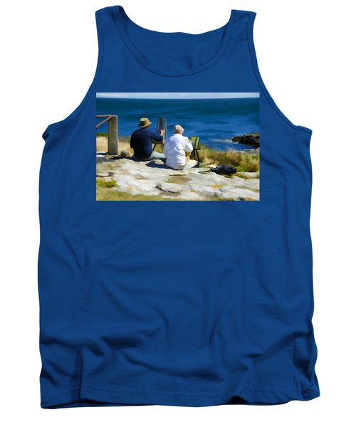 Painting The View Tank Top