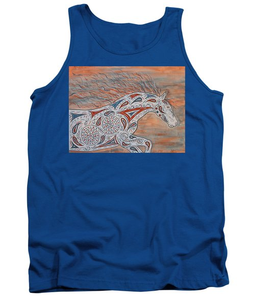 Tank Top featuring the painting Paisley Spirit by Susie WEBER