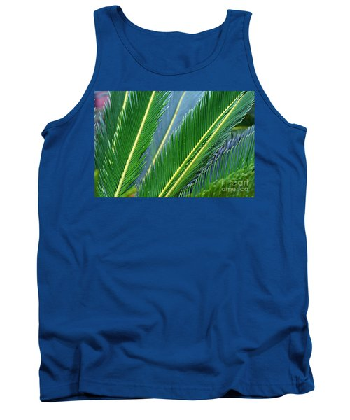 Palm Cycas Fronds Tank Top