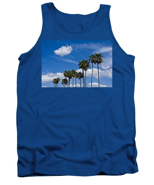 Palm Trees In San Diego California No. 1661 Tank Top by Randall Nyhof