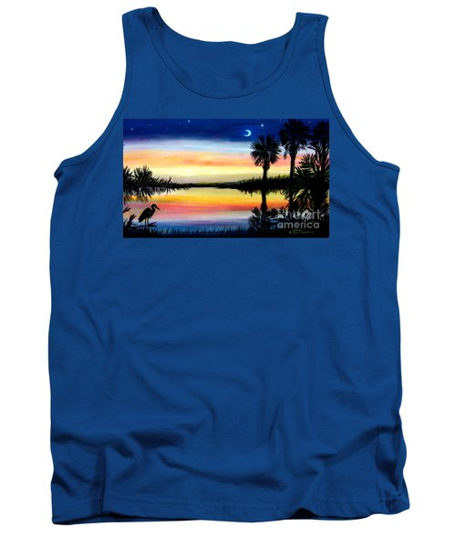 Palmetto Tree Moon And Stars Low Country Sunset IIi Tank Top