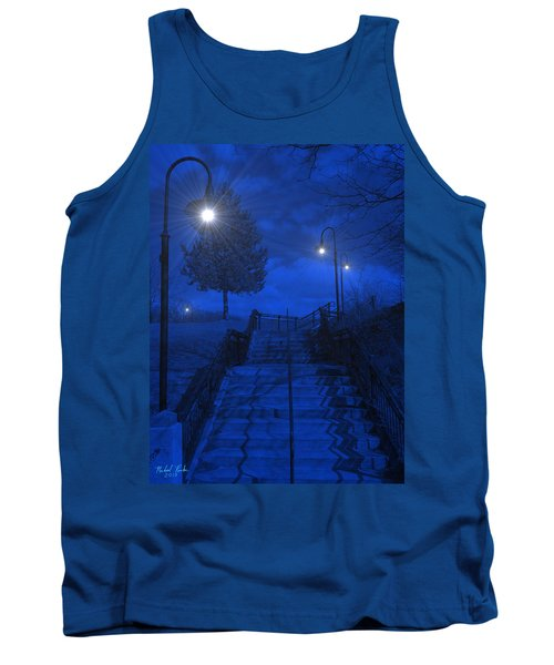 Tank Top featuring the photograph Park Stairs by Michael Rucker
