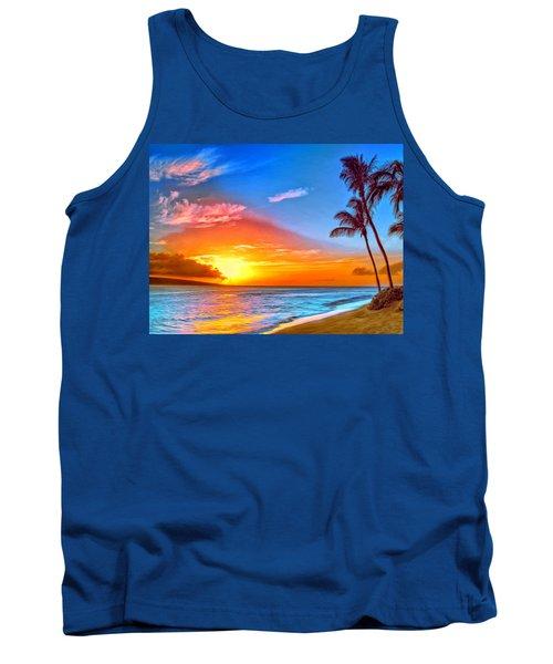 Pau Hana Sunset Maui Tank Top
