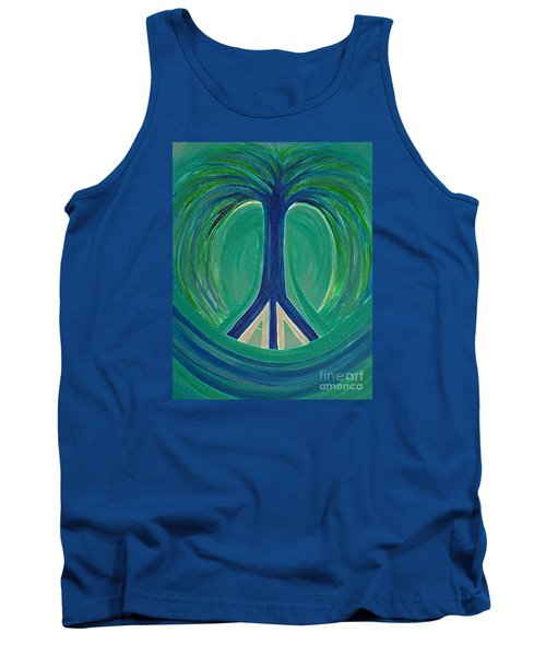 Peace Tree By Jrr Tank Top by First Star Art