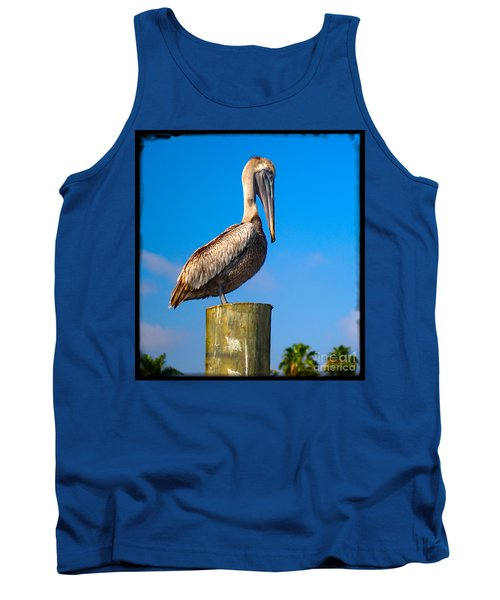 Tank Top featuring the photograph Pelican by Carsten Reisinger