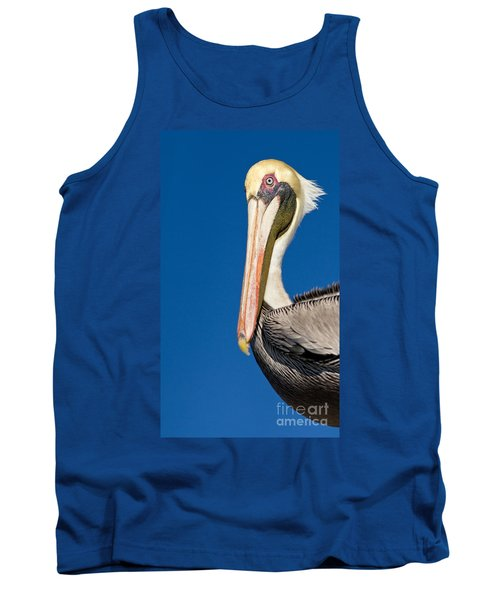 Tank Top featuring the photograph Pelican by Les Palenik