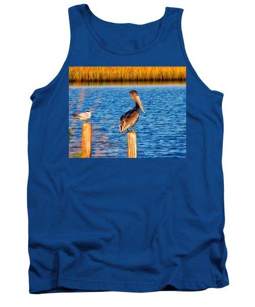 Pelican On A Pole Tank Top