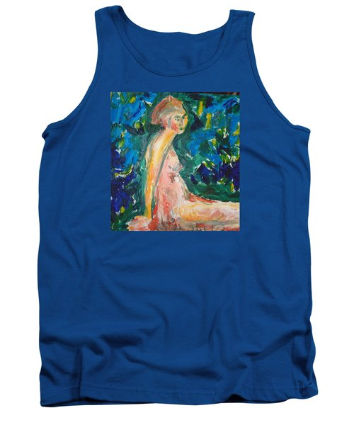 Tank Top featuring the painting Penelope Silenced by Esther Newman-Cohen