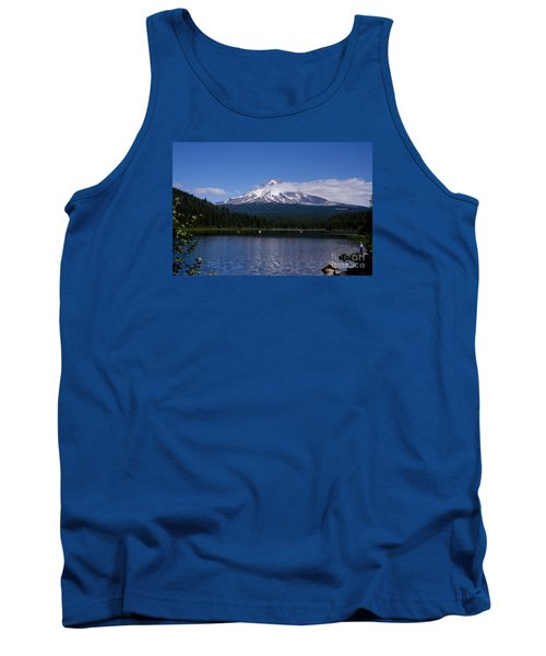 Perfect Day At Trillium Lake Tank Top by Ian Donley
