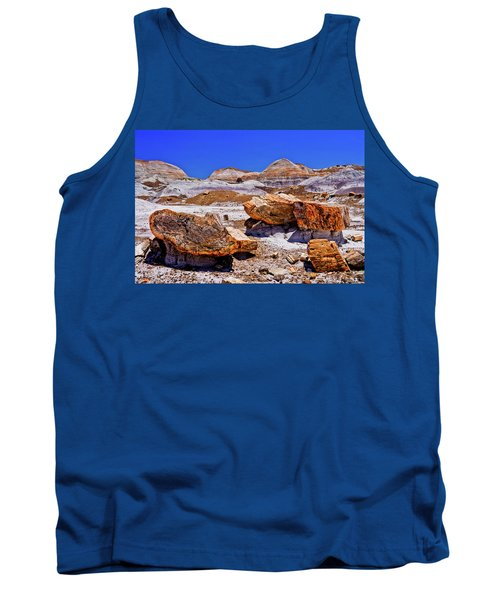 Tank Top featuring the photograph Petrified Forest - Painted Desert by Bob and Nadine Johnston