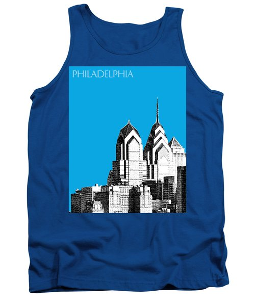 Philadelphia Skyline Liberty Place 1 - Ice Blue Tank Top