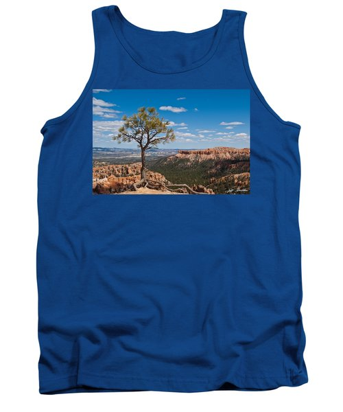 Tank Top featuring the photograph Ponderosa Pine Tree Clinging To Life On Canyon Rim by Jeff Goulden