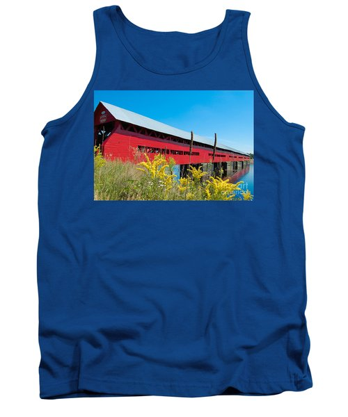 Tank Top featuring the photograph Pont Marchand by Bianca Nadeau