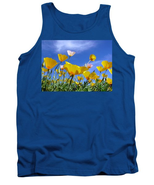 Poppies And Blue Arizona Sky Tank Top by Lucinda Walter