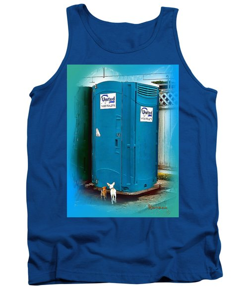 Tank Top featuring the photograph Porta Puppy Potty... by Sadie Reneau