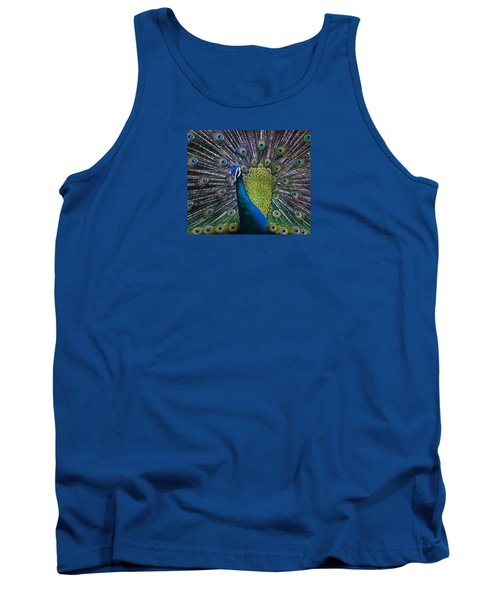 Portrait Of A Peacock Tank Top by Venetia Featherstone-Witty