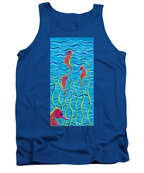 Poseidon's Steed Painting Bomber Tank Top