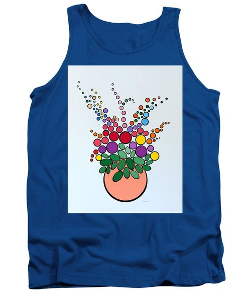Potted Blooms - Orange Tank Top