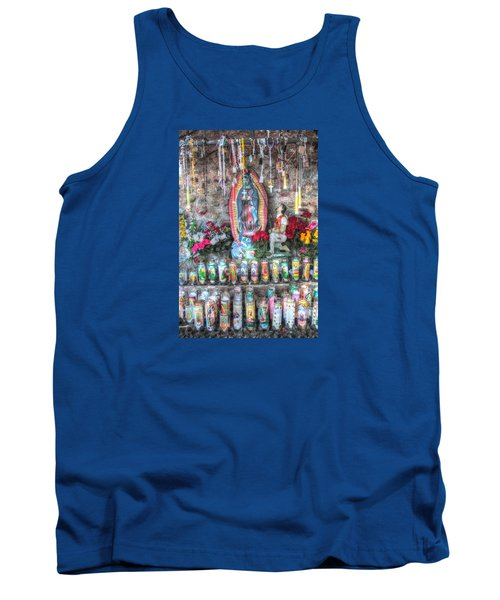 Tank Top featuring the photograph Prayers To Our Lady Of Guadalupe by Lanita Williams