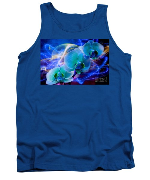 Tank Top featuring the photograph Prismatic Orchid Swirl by Judy Palkimas