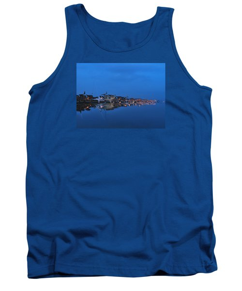 Promenade In Blue  Tank Top by Spikey Mouse Photography