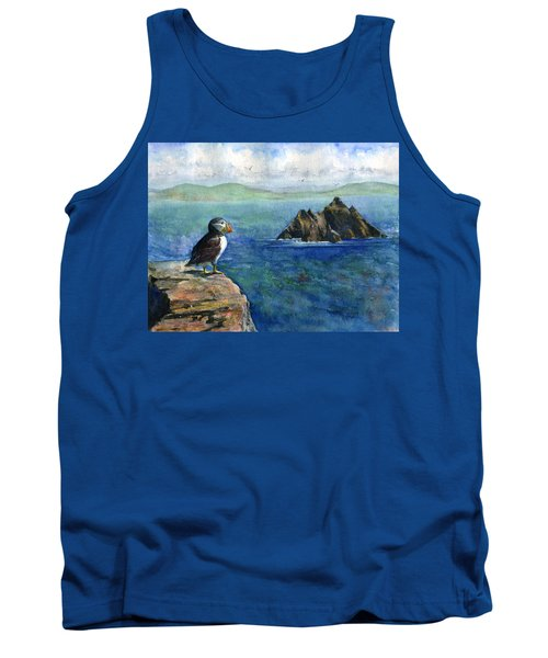 Puffin At Skellig Island Ireland Tank Top