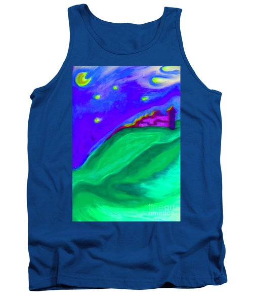Tank Top featuring the painting Purple Castle By Jrr by First Star Art