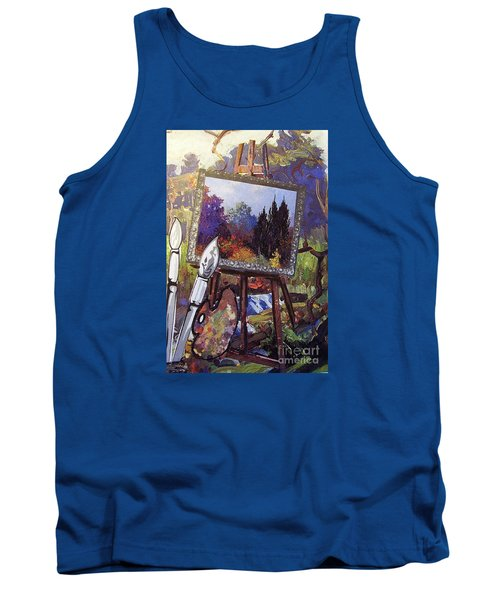 Tank Top featuring the painting Put Color In Your Life by Eloise Schneider