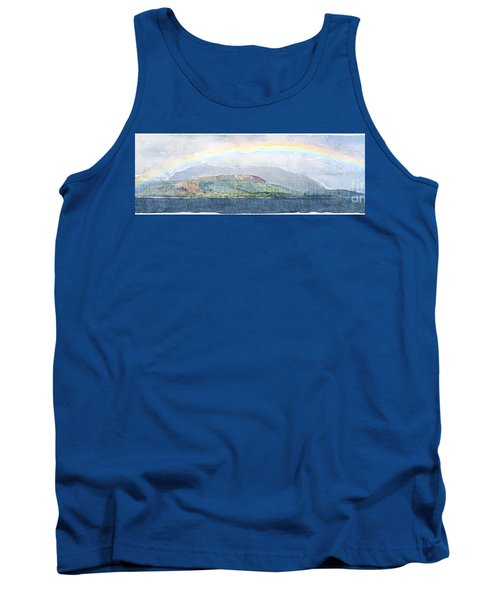 Rainbow Over The Isle Of Arran Tank Top by Liz Leyden