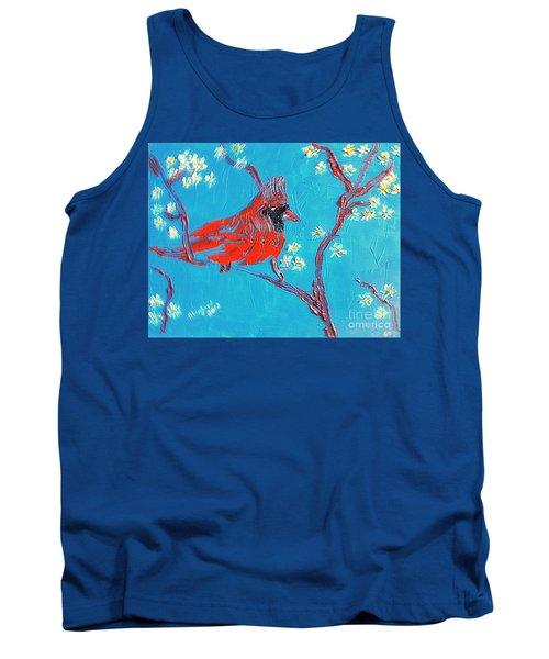 Red Cardinal Spring Tank Top