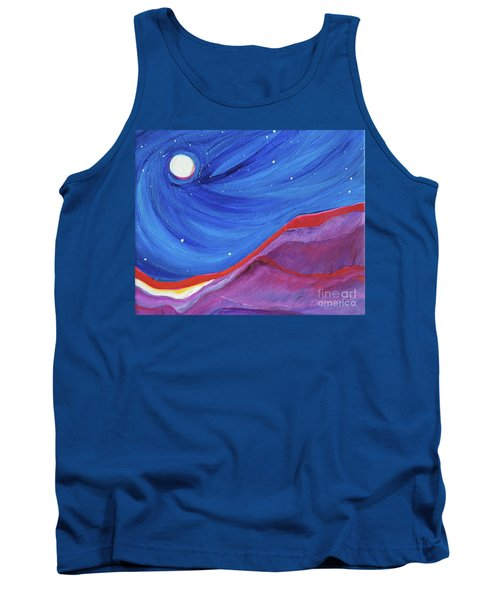Tank Top featuring the painting Red Ridge By Jrr by First Star Art