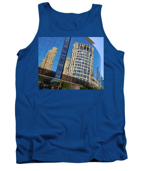 Tank Top featuring the photograph Reflections In The Rolex Bldg. by Robert ONeil