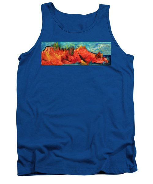 Tank Top featuring the painting Roasted Rock Coast by Elizabeth Fontaine-Barr