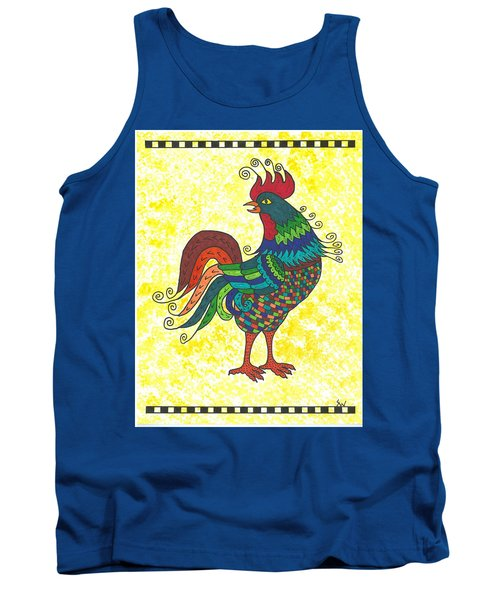 Rooster Strutting His Stuff Tank Top