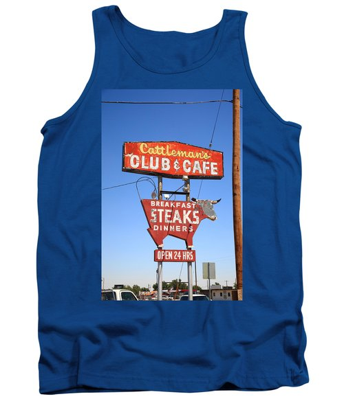 Route 66 - Cattleman's Club And Cafe Tank Top